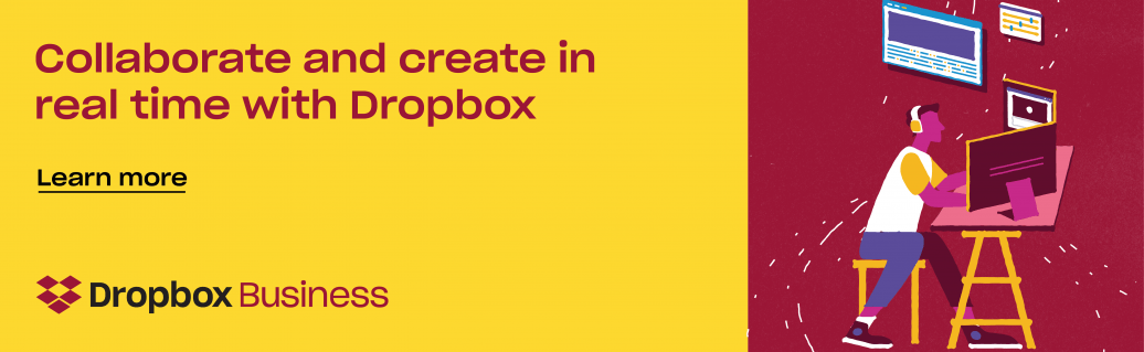 Collaborate and create in media with Dropbox
