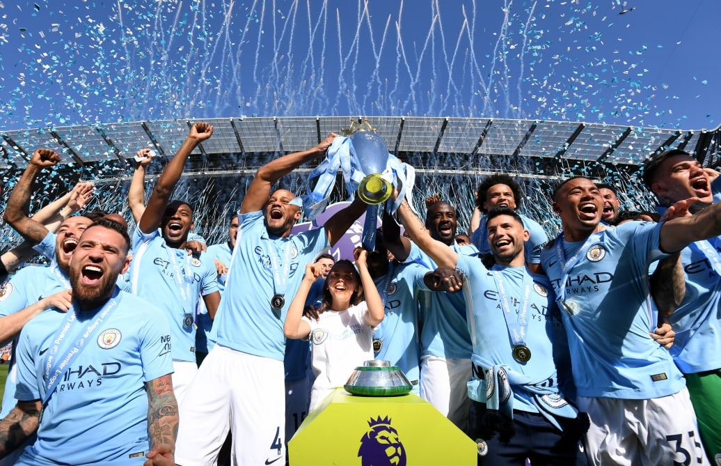 Getty Images - Camera to News Desks Story - Manchester City Champions Image